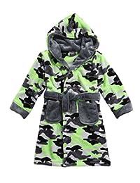 MINIKIDZ Boys Super Plush Bath Robe (Ages 2-6yrs) Rangers Camo Hooded Night Gown