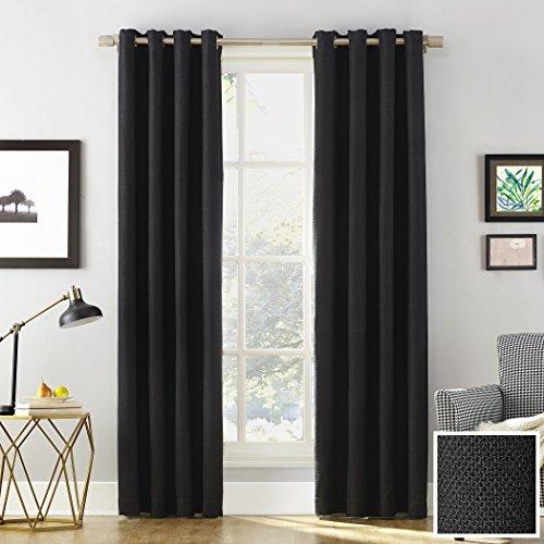 "Sun Zero Baxter Theater Grade Extreme 100% Blackout Curtain Panel,Black,52"" x 63"""
