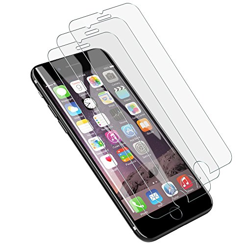[3 Pack] LK Screen Protector for iPhone 6 Plus/iPhone 6S Plus, [Tempered Glass] with Lifetime Replacement Warranty