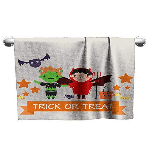 Michaeal Sports Ttowel Halloween Background with Lovely Costumes Microfiber Towel 8 x 24 Inch