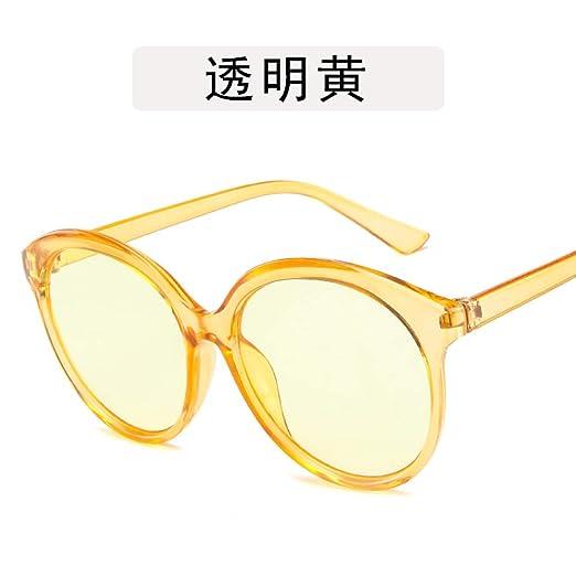 Yangjing-hl Gafas con Montura Redonda Gafas de Sol con ...