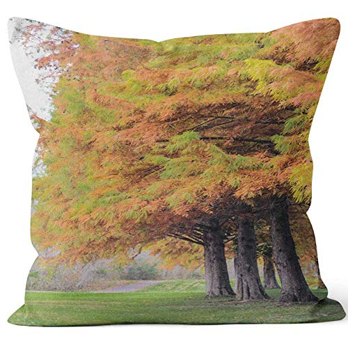 RV Camper Stands on Side of Road on of Huge Mountain Friends Travel to Motorhome on Mountain Road Travelers Rest on Sidelines and Throw Pillow Cover,HD Printing for Sofa Couch Car Bedroom Living Room