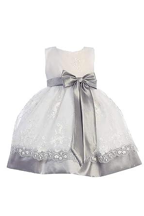 df97b6a4616 Amazon.com  Organza   Taffeta Dress - DustyRose Pink Lilac Silver ...