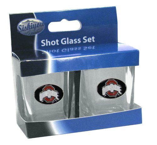 Siskiyou NCAA Ohio State Buckeyes Shot Glass Set
