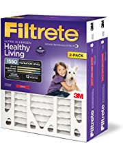 Save on Filtrete 16x25x4 (SlimFit) (3-3/4 Actual Depth) MPR 1550 Deep Pleat, Healthy Living Ultra Allergen AC Furnace Air Filter, 2-Pack and more