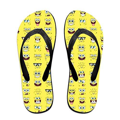 - sport outdoor 003 Unisex Flip Flops Glitter Sandals Spongebob Squarepants Classical Comfortable Slipper for Women/Men