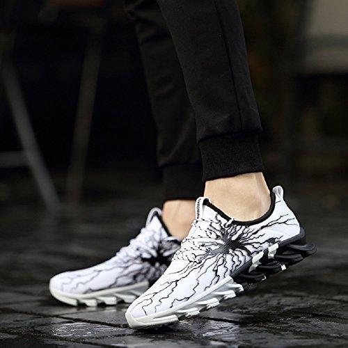 Casual Sneakers 5 Sportivo Corsa Bianca Scarpe Da Leggero Uomo Outdoor Lanchengjieneng Traspirante Ginnastica 8RPvvq