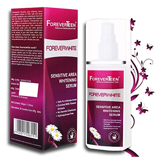 Foreverteen Sensitive Area Whitening Serum For Sensitive skin of Underarms, Inner Thigh, Knee and Bikini Area
