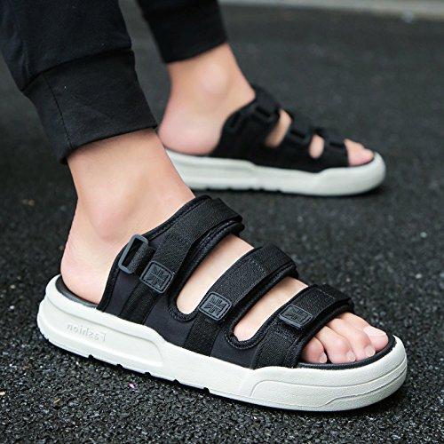 fankou Verano Antideslizante Zapatillas Zapatos Sandalias de Playa Que Son Frescas en Verano y Moda Ocio y,Marea Negra 43,903