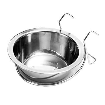 Xiuinserty - Cuenco colgante de acero inoxidable para mascotas ...