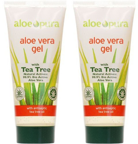(2 Pack) - Aloe Pura - Aloe Vera Gel + Tea Tree | 200ml | 2 Pack Bundle