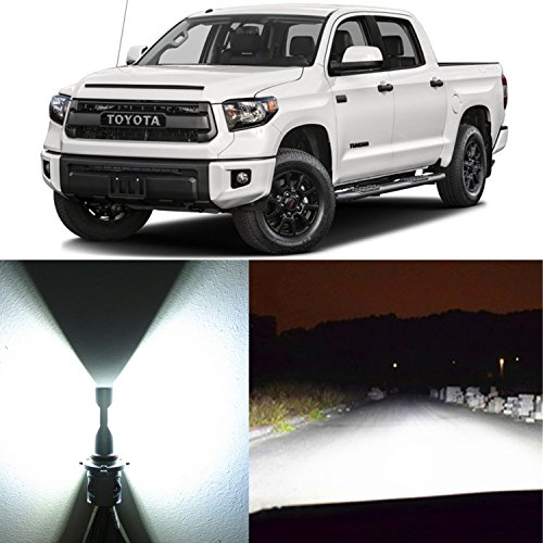 Alla Lighting 2x Super Bright White H4 9003 HB2 LED Headlight Bulbs for High Low Beam Headlamp Conversion Kits for 2001 2003 2003 2004 2005 2006 2014 2015 2016 2017 Toyota Tundra