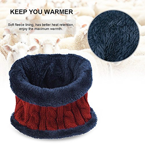 48a72c27e0c muco Womens Mens Winter Hat Warm Thick Beanie Cap Scarf For - Import It All