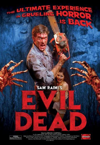 The Evil Dead Movie Poster (11 x 17 Inches - 28cm x 44cm) (1983) Style G -(Bruce Campbell)(Ellen Sandweiss)(Betsy Baker)(Hal Delrich)(Sarah York)(Theodore (Ted) Raimi) -