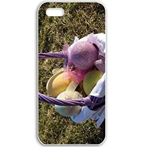 Apple iPhone 5 5S Cases Customized Gifts For Holidays Holidays Easter Peaster basket 20628 White