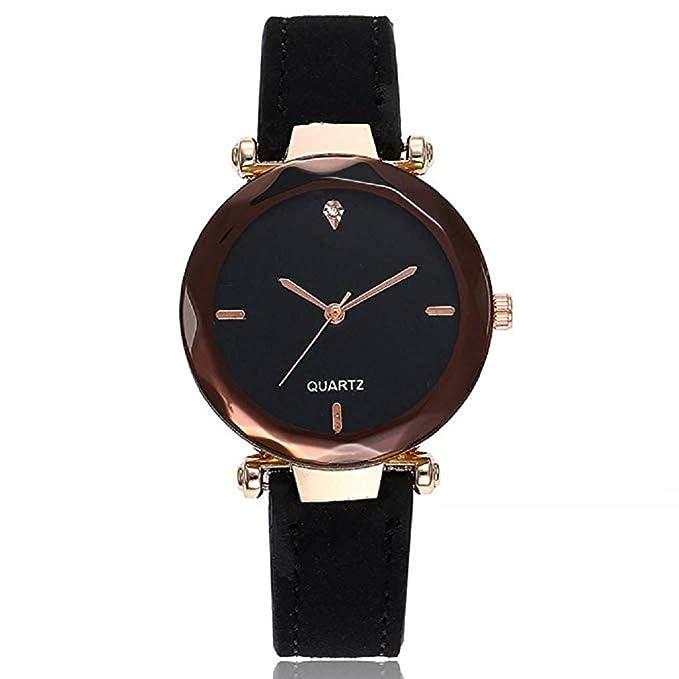 Relojes de Cuarzo para Mujer Relojes de Lujo para Mujer Reloj analógico de Moda Banda de Cuero Vestido único Reloj de Pulsera Casual Relojes Elegantes para ...