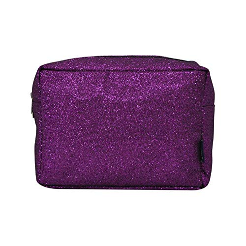 NGIL Large Travel Cosmetic Pouch Bag Spring 2018 Collection (Glitter Purple)
