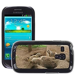 Etui Housse Coque de Protection Cover Rigide pour // M00134947 Perro de las praderas Familia // Samsung Galaxy S3 MINI i8190
