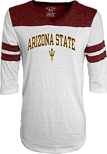 Arizona State Sun Devils Womens 3 4Th Sleeve Tshirt White   Xl