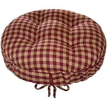 Amazon Com 13 Quot Round Indoor Outdoor Barstool Cushion