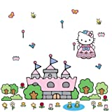 RoomMates RMK1200GM Hello Kitty Princess Castle Peel & Stick Giant Wall Decal