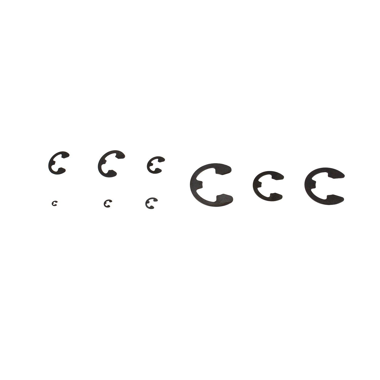 caja 300 unidades de metal interior y exterior Circlip anillo de retenci/ón surtidos el/ásticos