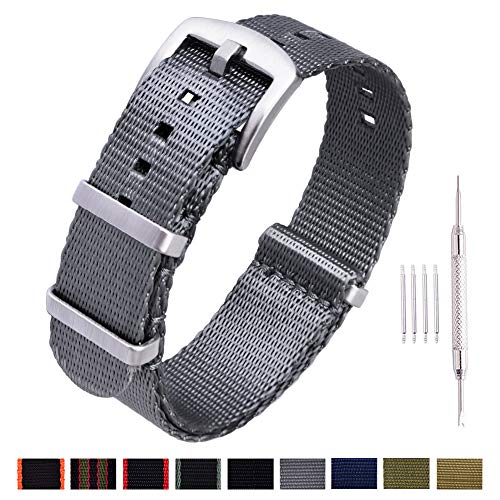 - Ritche NATO Watch Strap with Heavy Buckle 18mm 20mm 22mm Premium Seat Belt Nylon Watch Bands for Men Women