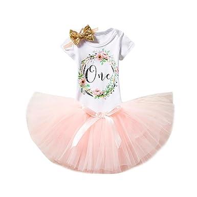 8653b37f6 Kingko_ Newborn Baby Infant Toddler Girls My 1st Birthday Cake Smash Shiny  Printed Sequin Dress Princess