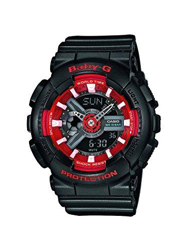 Casio BA-110SN-1AER Ladies Baby-G World Time Black Chronograph Watch