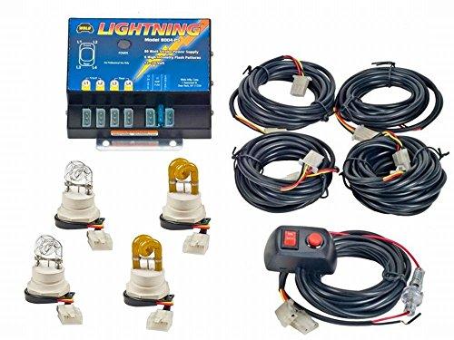 Wolo (8004-2CCAA) Lightning 80 Watt Power Supply Four Bulb Emergency Warning Strobe Kit – 2 Clear Bulbs, 2 Amber Bulbs