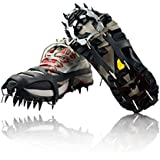 YUEDGE Universal 18 Steel Teeth Anti-Slip Ice And Snow Traction Cleats Safe Protect Shoes