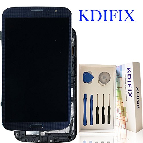 KDIFIX for Samsung Galaxy Mega 6.3 i9200 i9205 I527 L600 LCD Touch Screen Assembly + Frame with Full Professional Repair Tools kit (Black+Frame)