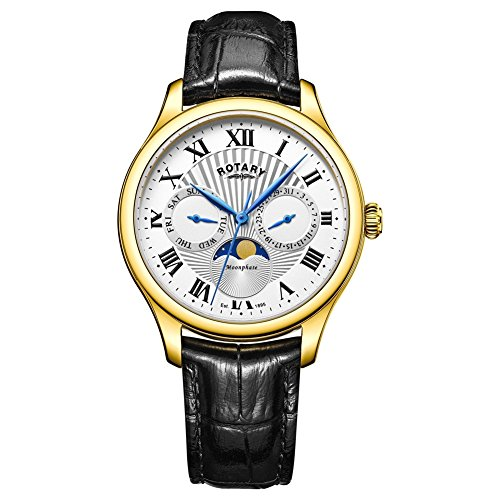 Rotary GS05066-01 Mens Timepieces Moonphase Black Chronograph Watch