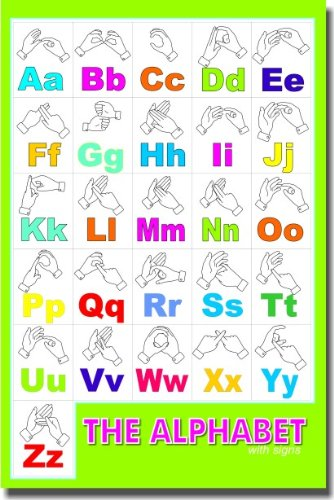 The Alphabet Hand Signs - Classroom Language Arts Poster