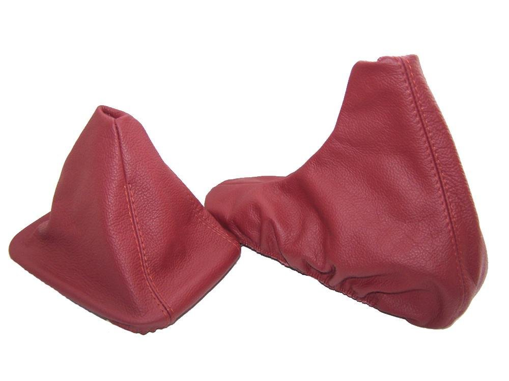 The Tuning-Shop Ltd For Bmw Z3 1995-2002 Shift /& E Brake Boot Tanin Red Leather
