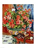 Geraniums and Cats, 1881 - Poster by Pierre-Auguste Renoir (18 x 24)