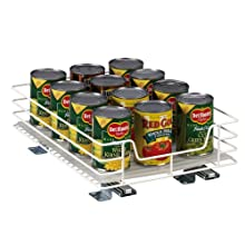 Household Essentials 1215-1 Glidez 1-Tier Sliding Organizer | Pull Out Pantry Shelf | White | 12 Inches Wide