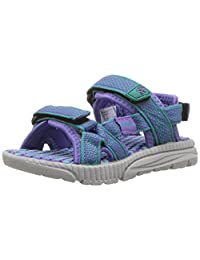Kamik Girls' Match Sandal, Teal, 5 M US Toddler
