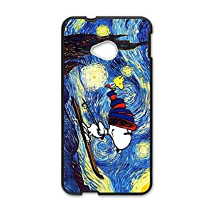 Van gogh starry night paintings snoopy Cell Phone Case for HTC One M7