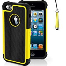 Case for Apple iPhone 5s 5 SE Shockproof Phone Cover with Screen Protector / iCHOOSE / Yellow