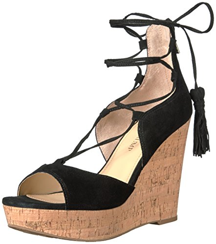quality free shipping buy cheap low shipping fee Ivanka Trump Women's Hellan3 Wedge Sandal Black Suede huge surprise sale online sale release dates affordable eGvQ7bCJou
