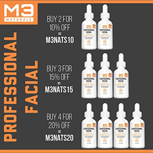 51kGRRwlcmL - M3 Naturals Professional Facial Vitamin C Infused with Collagen Stem Cell and Patented Fision Wrinkle Fix Face Eye Oil Topical Facial Serum Natural Skin Care Acne Anti Aging Dark Spot Remover Cream