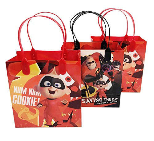 12 Pieces Disney Pixar Incerdibles 2 Birthday Goody Gift Loot Favor Bags Party Supplies (Incredibles 2)