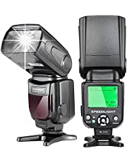 Neewer E-TTL LCD Display Flash Speedlite Maestro/Esclavo para cámaras réflex Digitales de Nikon, como 7D Mark II, 5D Mark II III IV, 1300D 1200D, 750D, 700D, 600D, 80D, 70D, 60D (NW-562)
