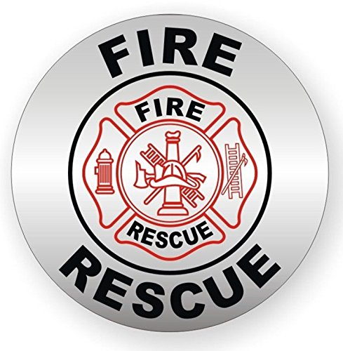 - 1 Set Convincing Unique Fire Rescue Window Stickers Laptop Luggage Hoverboard Wall Graphics Ladder Shop Label Decals Decor Vinyl Sticker Decal Patches Size 2