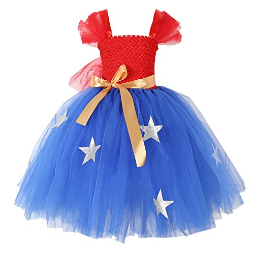 Little Miss Princess Tutu - KooNicee 4th of July Dresses for Girls - July 4 Tutu for Parade Back to School Party Gift