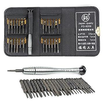 26 Pcs Destornillador Bit Set endurecida Destornillador Precisión ...