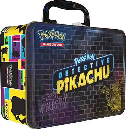 Pokemon TCG: Detective Pikachu Collector Treasure Chest + 9 Booster Pack + A Collector's Pin + A Notepad & Sticker ()