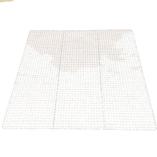 B&C.Room Stainless Steel Mesh Wire Steaming Cooling Barbecue Grills Racks Pan Grate Carbon Baking Net 58.558.5cm
