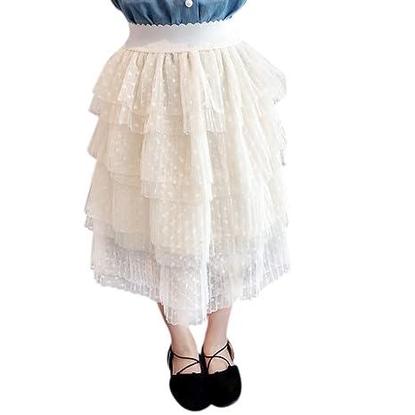 Falda de tul plisada para niña, falda de tul de baile, falda de ...